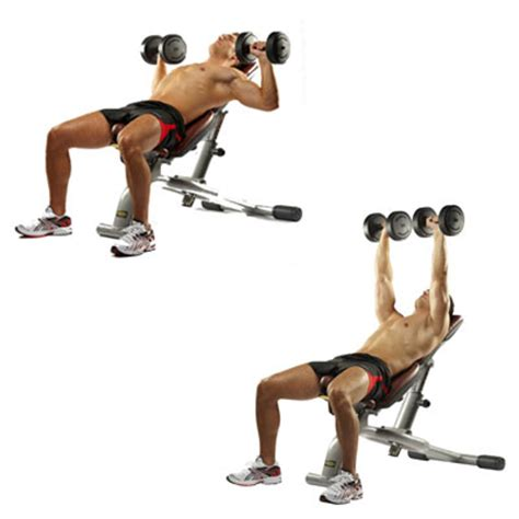 incline bench press exercise six upper body workout