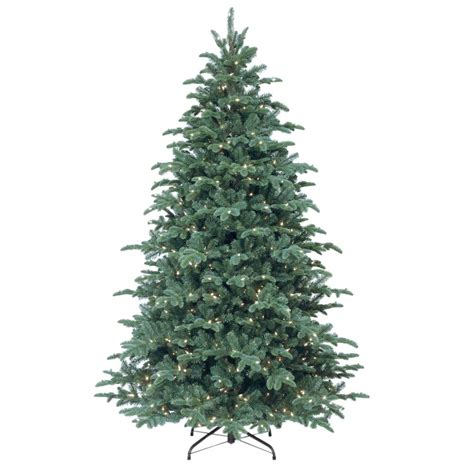 feel real alaskan spruce tree national tree company 7 1 2 ft feel real mountain noble blue spruce hinged artificial