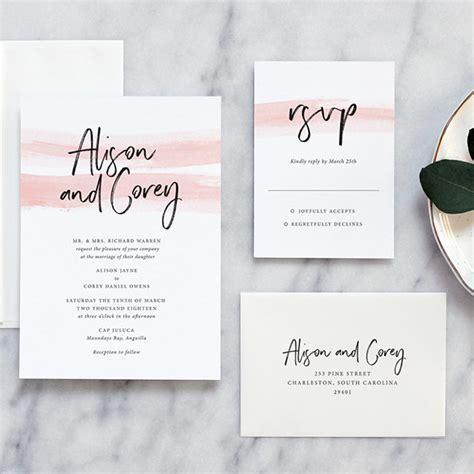 Wedding Invitations Modern by Color Wash Modern Wedding Invitations Day Press