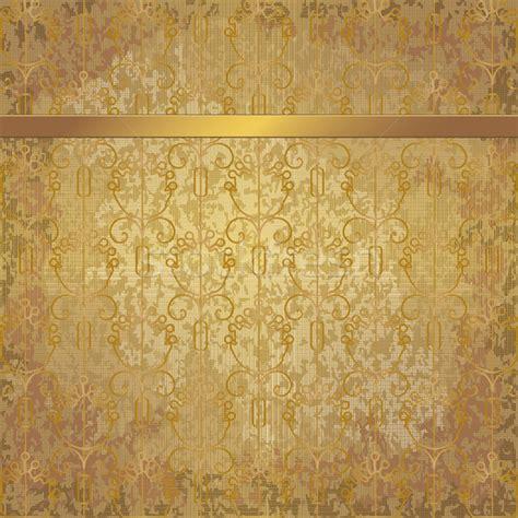 golden svg pattern background golden vintage background with floral elements and a