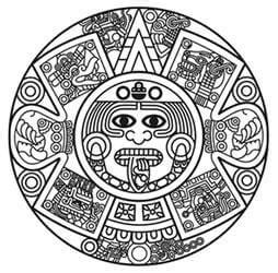 calendario azteca para colorear aztec tattoo designs the body is a canvas