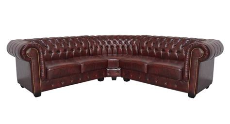 comp chesterfield leather corner sofa 2c2