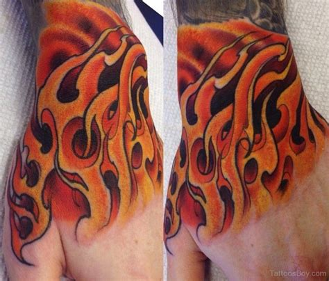 tattoo flames wrist stylish on arm sleeve