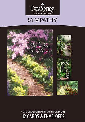 sympathy card template publisher peaceful paths sympathy boxed cards box of 12 cokesbury