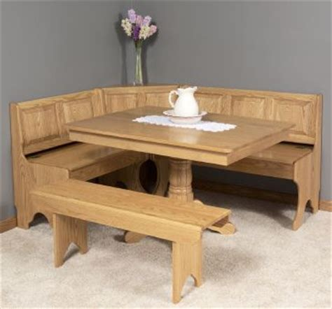 kitchen table bench with storage and wooden dining chairs