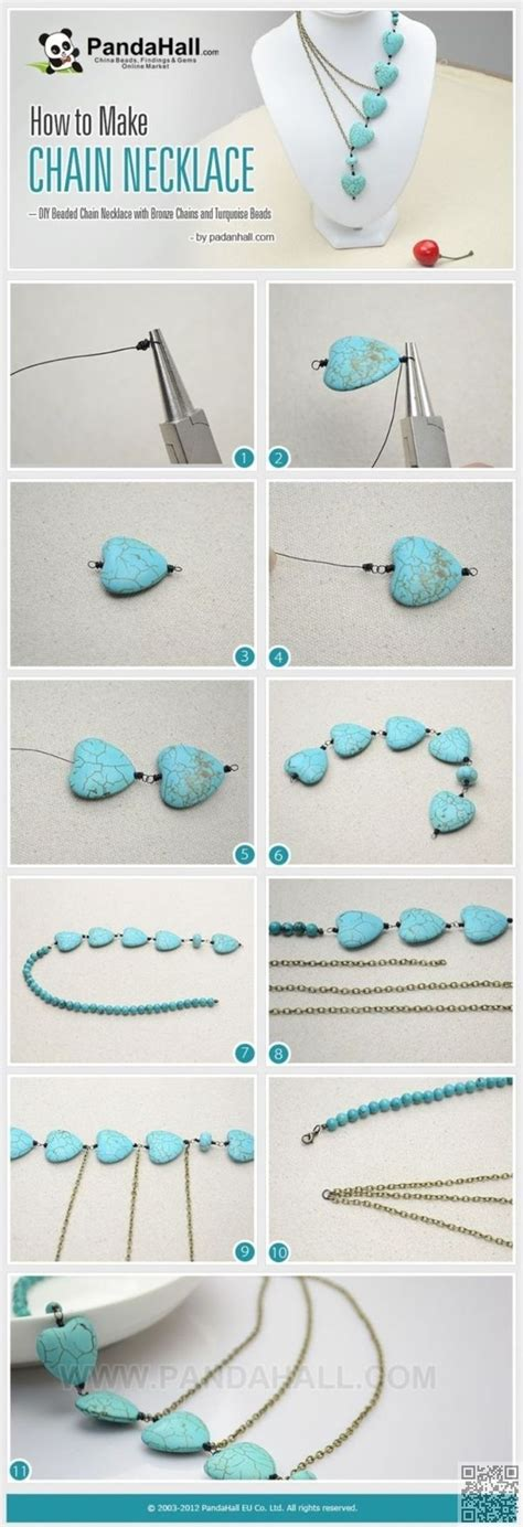 learn to make jewelry at home 25 best ideas about chain necklaces on diy