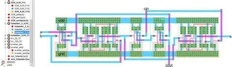 xor layout diagram lab6 designing nand nor and xor gates for use to