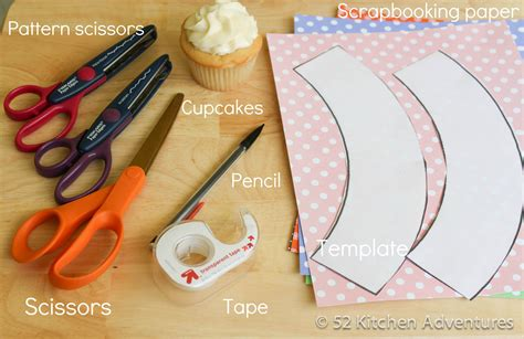 How To Make Paper Cupcake Liners - what you need to make cupcake wrappers 52 kitchen adventures