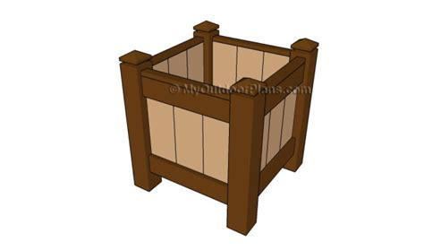 wooden planter plans how to build a wood planter myoutdoorplans free