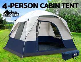 weisshorn 4 person family cing tents cabin canvas swag