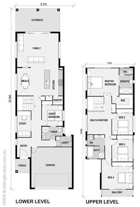 floor plans for narrow lots best 25 narrow lot house plans ideas on pinterest