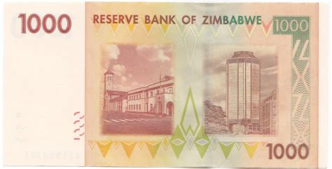 one thousand zimbabwe one thousand dollar banknote zimbabwedollars net