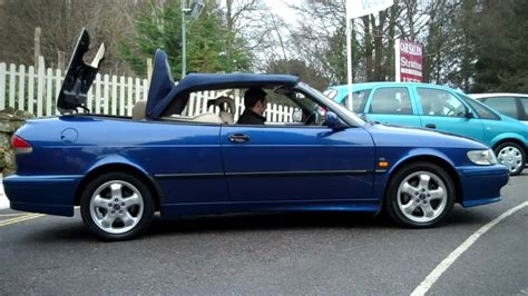 saab convertible blue 1999 saab 9 3 se turbo automatic convertible for sale