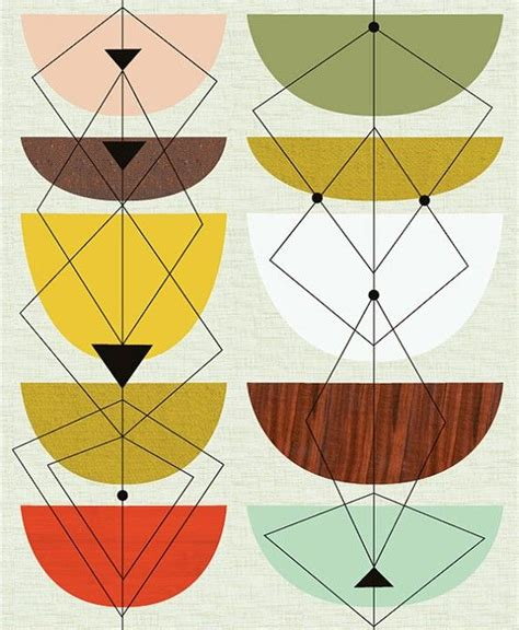 mid century modern pattern geometric patterns prints