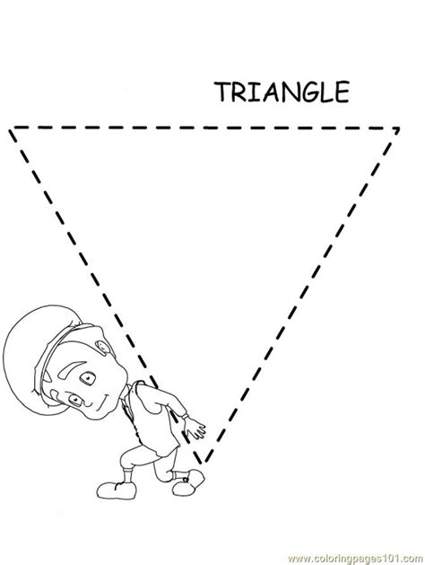 Free Coloring Pages Of Tracing Triangles Triangle Coloring Pages