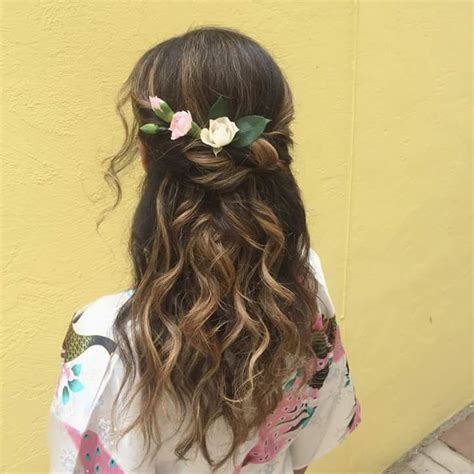 hairstyles decorated with flowers 55 trendy head turning boho bohemian hairstyles for all