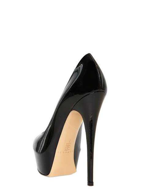 Pumps Heels Glossy K0405 lyst casadei patent glossy open toe pumps in black
