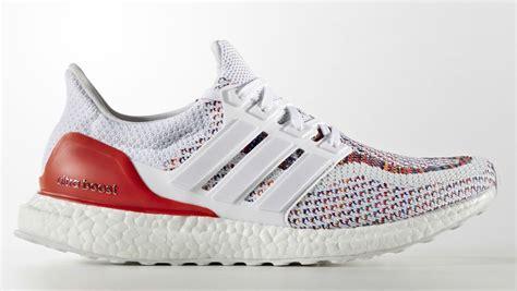 Sepatu Adidas Ultra Boost Rainbow White Multicolor Sneaker New 2017 adidas ultra boost multicolor white sole collector