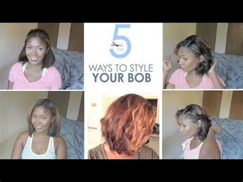 different ways to style a short aline how to 5 easy ways to style your bob hairstyle tutorial