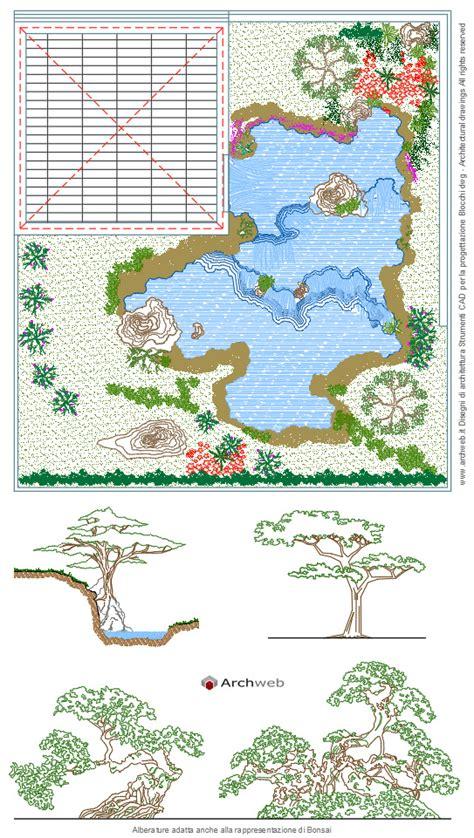 giardino dwg giardino giapponese dwg