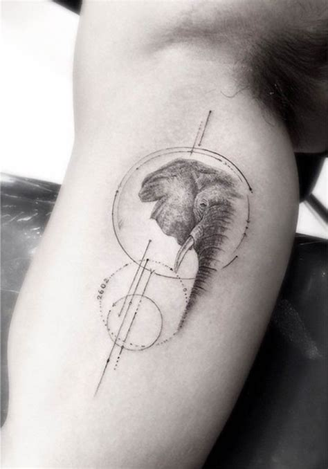elephant tattoo for men geometric elephant tattoos for ideas for