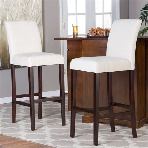 White And Brown Bar Stools by Stools Design Extraordinary Fabric Bar Stools With Backs
