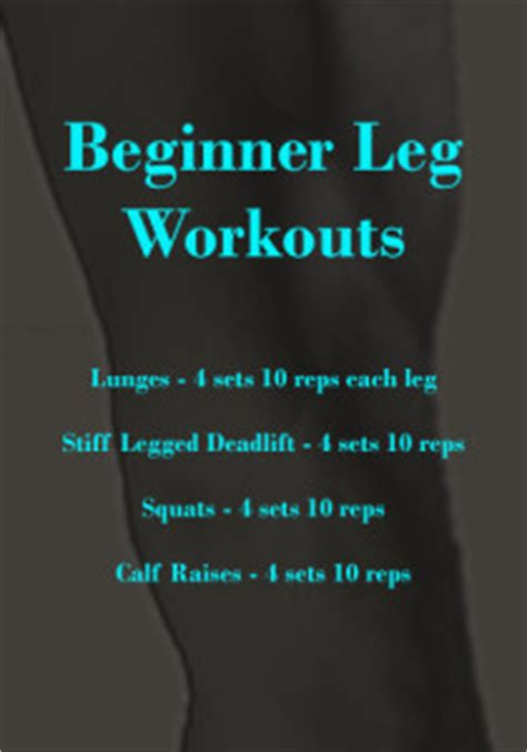 complete leg workouts 187 beginner workout routines