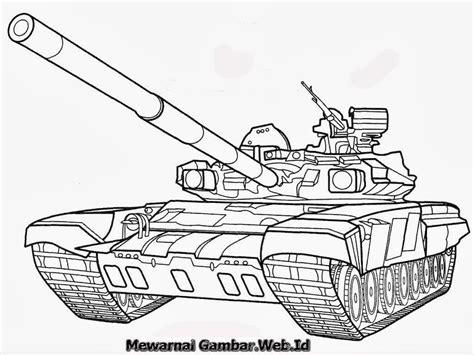 mewarnai gambar mobil tank mewarnai gambar