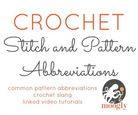 pattern uk slang crochet abbreviations creatys for
