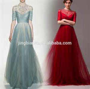 gown designs 2014 arabic fashion design half sleeves beaded evening gown oe36 buy designs evening