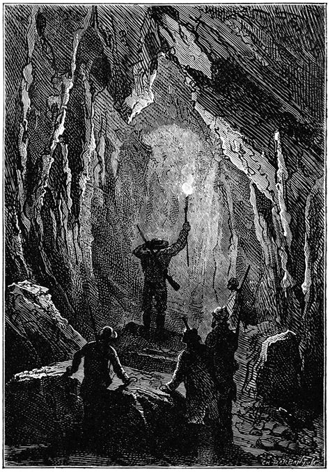 They Explored Dark Tunnels – Old Book Illustrations