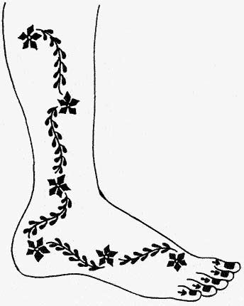 Henna Patterns Feet – Browse Patterns