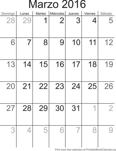 Calendario De Febrero Calendario Marzo 2016 Para Imprimir Calendarios Para