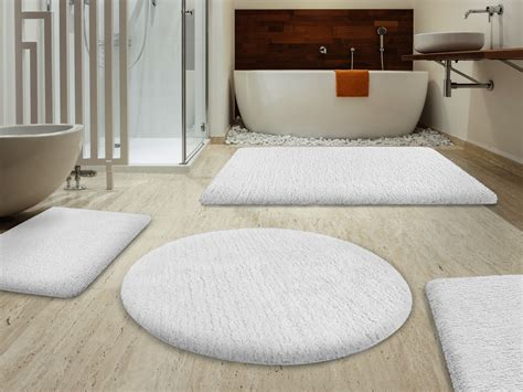 Luxury Round Rugs Sky Bath Mats Snow White Available In 6 Sizes