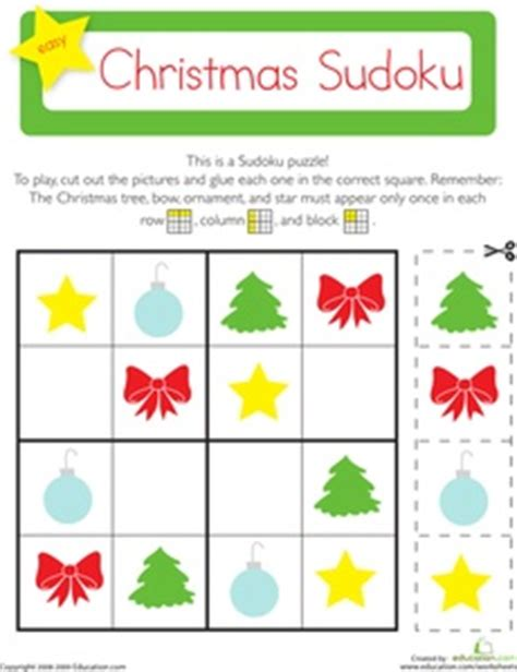 christmas pattern game 114 best images about sudoku for kids on pinterest free