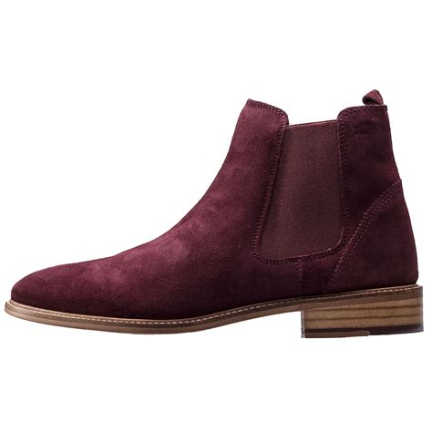 chelsea boots mens brogues hamilton mens chelsea boots in burgundy