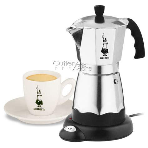 Bialetti Electric Cafe Moka Express Espresso Maker, 6 cup