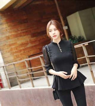 Tas Wanita Korea Murah Bahu Hitam Import blouse wanita import hitam 2016 model terbaru jual