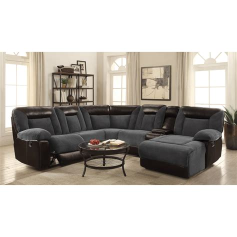 Plush Sectional Sofas Coaster Cybele 600090 Plush Two Tone Sectional Dunk Bright Furniture Sectional Sofas