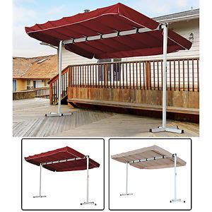 Free Standing Awnings For Decks Outdoor Free Standing Awning Patio Canopy Gazebo Shelter