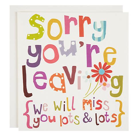 sorry you re leaving card template buy caroline gardner sorry you re leaving card lewis