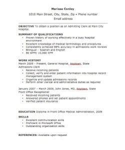 Resume Genius Lawsuit Admitting Clerk Resume Sle Clerk Resume Resume Cv Cover Letter Resume Exles