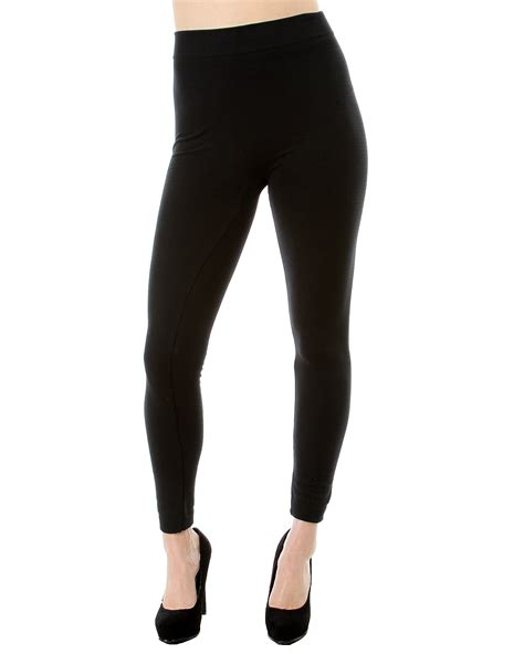 40199 Black Lined Tight Size S fleece lined plus size trendy clothes