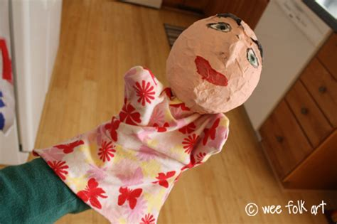 How To Make A Paper Mache Puppet - paper mache puppets part two the wee folk
