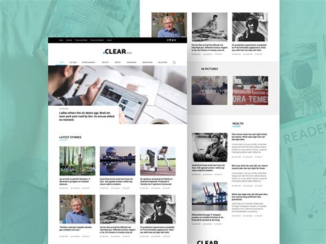 clear blog magazine template freebie download