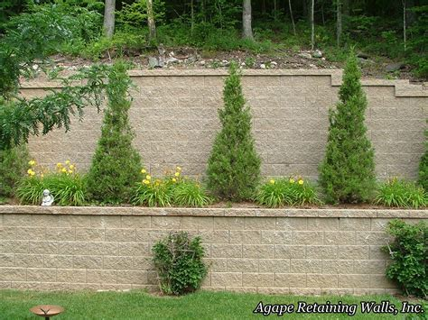 ideas for retaining wall landscaping bistrodre porch and landscape ideas