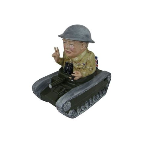 Winston Churchill Tank Figure Bairstow Pottery   Stoke Art