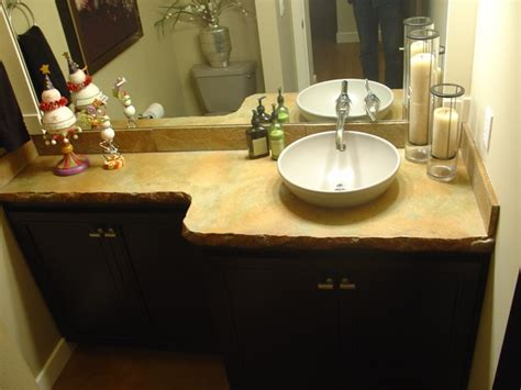 Bathroom Countertops Seattle Cast In Place Concrete Counter Contemporary Vanity