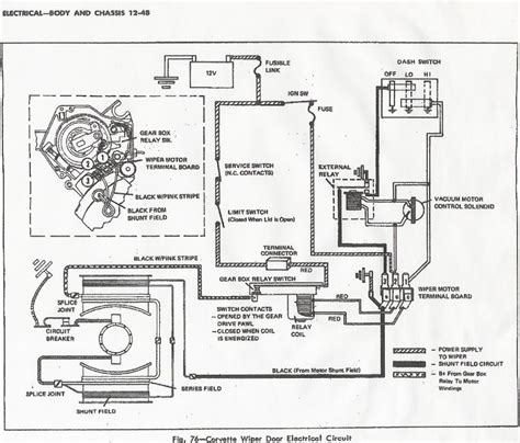 1968 corvette wiper motor wiring diagram schematic