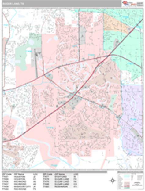 sugar land texas zip code map sugar land texas zip code wall map premium style by marketmaps